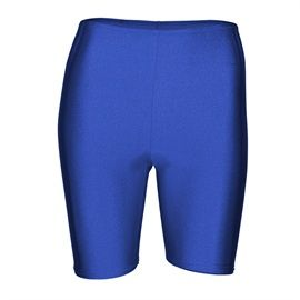 Starlite Cycle Shorts. Suitable for dance, gym, yoga and fitness in a wide range of sizes and colours. Colours - Black, Delphinium, Flo Orange, Red, Royal Blue, White. Available at www.dancinginthestreet.com
