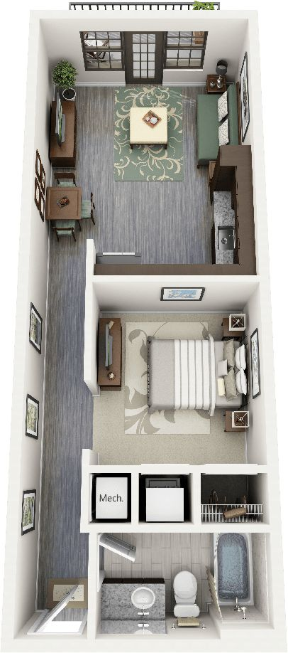 15 Inspirations Floor Plans | Studio, Studio Apartment Floor Plans And  Apartment Floor Plans
