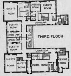 The Gilded Age Era The Astor Double Mansion On Fifth Avenue Mansions Architectural Floor Plans Antebellum Homes