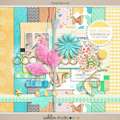FREE Digital Scrapbook Kit, Fleetwood by Sahlin Studio