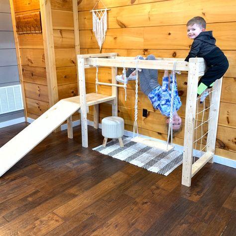Toddler Jungle Gym, Indoor Jungle Gym, Indoor Toddler Gym, Toddler Indoor Playground, Toddler Play Yard, Toddler Climbing Toys, Toddler Bed, Playground Design, Outdoor Playground