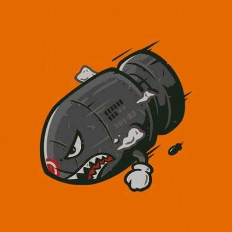 mario+bomb   mario bomb orange shirt