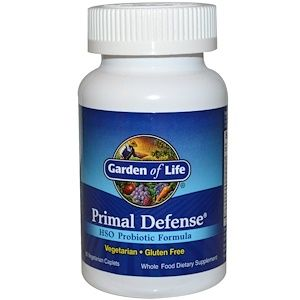 Garden Of Life Primal Defense Hso Probiotic Formula 90 Vegetarian Caplets Probiotics Vitamins For Kids Naturally Gluten Free Foods