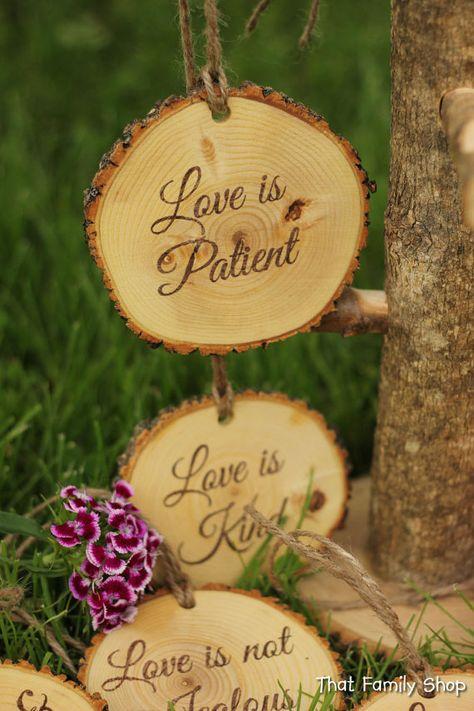 Corinthians Aisle Markers 'Love is Patient, Love is Kind.', Set of Ten Rustic Wedding Wedding Bible, Our Wedding, Wedding Shot, Wedding Couples, Wedding Signs, Wedding Favors, Wedding Stuff, Wedding Invitations, Dream Wedding