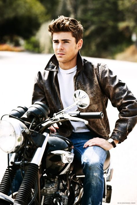 """Zac Efron.. """"He's extremely good looking, let's put him on a motorcycle and torture the female population"""""""