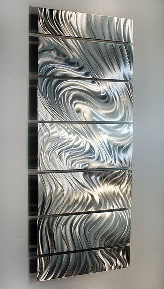 $$ HUGE SAVINGS!! On sale now for $175 plus shipping in the US, this handmade metal wall sculpture is originally priced at $225! Thats a great savings that will not last long!! Title: Hypnotic Sands Dimensions: Overall measurement of 68 in x 24 in x 2 in (172.72 cm x 60.96 cm x