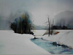 Zoltan Szabo Watercolor Landscape Landscape Paintings