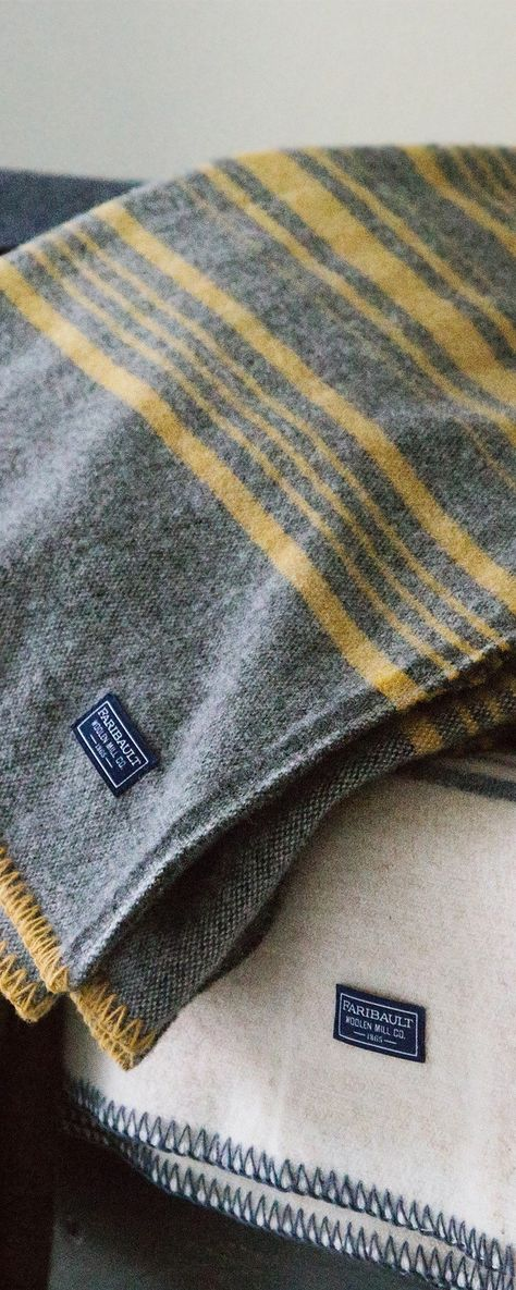 Faribault's weekender stripe wool blankets, discovered by The Grommet, are crafted by the same Minnesota Mill that made element-fighting blankets in WWII.