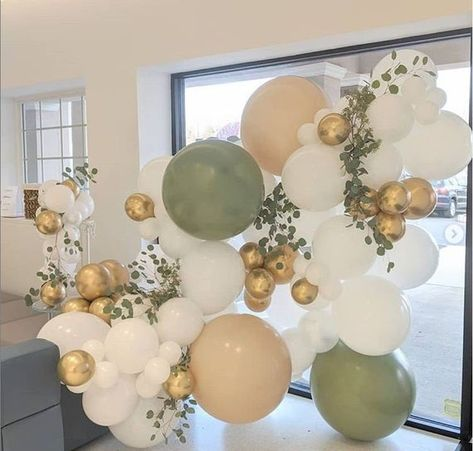 Balloon Arch Diy, Baby Shower Balloon Decorations, Baby Shower Balloons, Balloon Garland, Baby Shower Themes, Birthday Decorations, Wedding Decorations, Balloon Wall, Baby Balloon