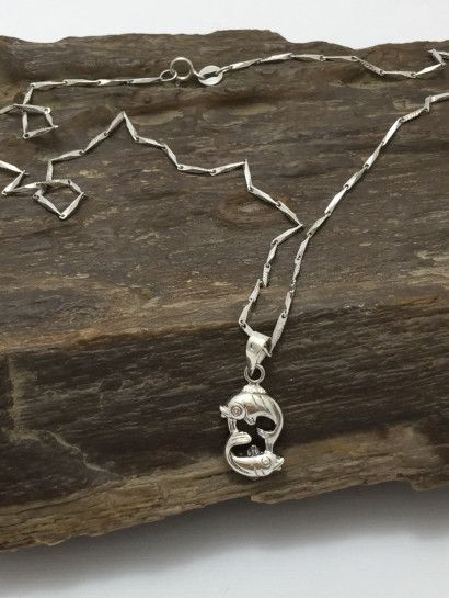 كوليه فضة عيار 925 الحوت Jewelry Jewelrymaking Love Women Silver Goldjewellery Jewelry Silver Silver Necklace