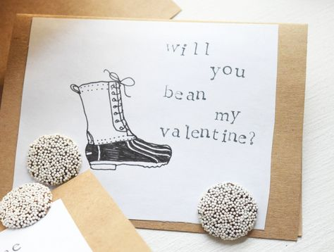 L L Bean duck boot valentine for your preppy valentine #valentineideas #preppyvalentine #DIYvalentine #beanboots