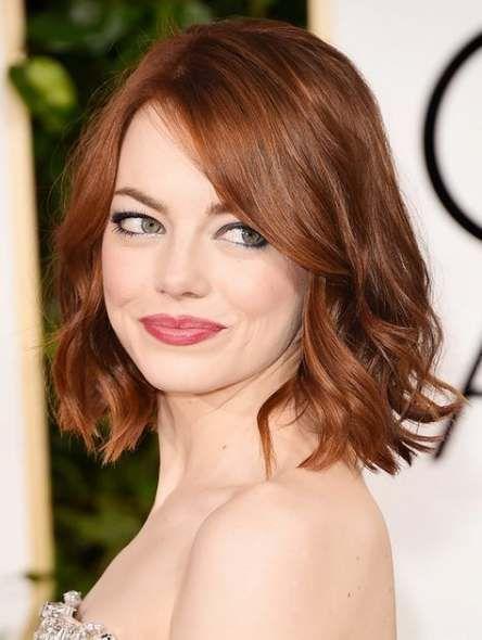 41 Ideas Hair Copper Blonde Emma Stone Hair Color For Fair Skin Hair Color Auburn Wavy Bob Hairstyles
