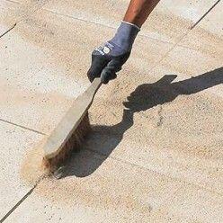 Construire Une Terrasse Avec Des Dalles En Pierre Reconstituee Carrelage Terrasse Exterieur Dallage Pierre Carrelage Terrasse