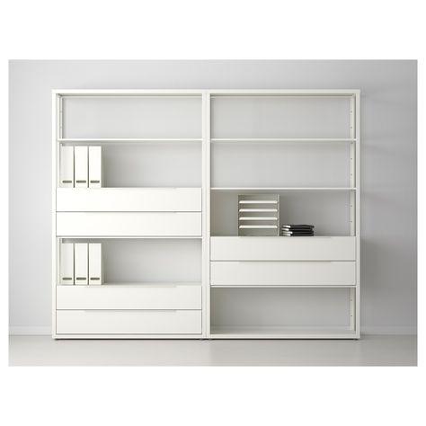 the latest e186a 3b20c IKEA FJALKINGE White Shelf unit with drawers   basement dig ...