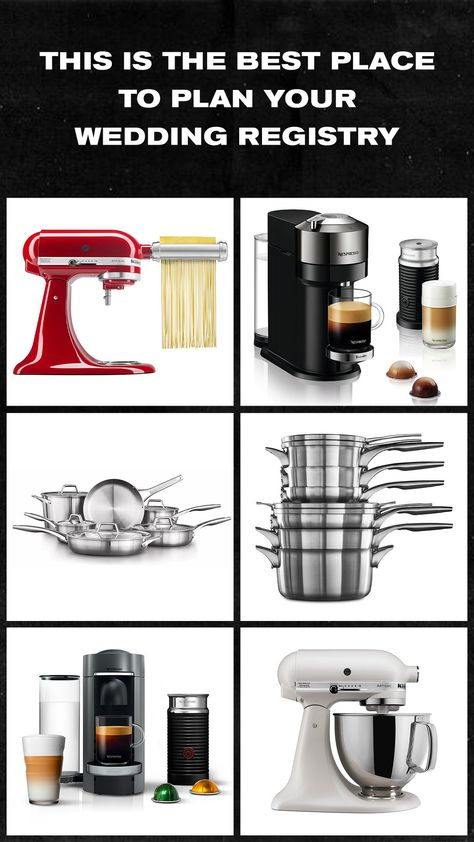 From pasta makers to chic stand mixers, here's the best place to plan your wedding registry. #ad