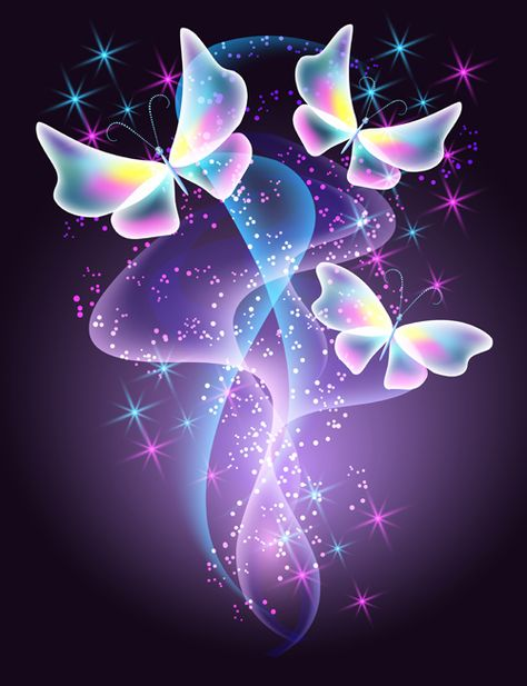 Dream butterfly with shiny background vector 05