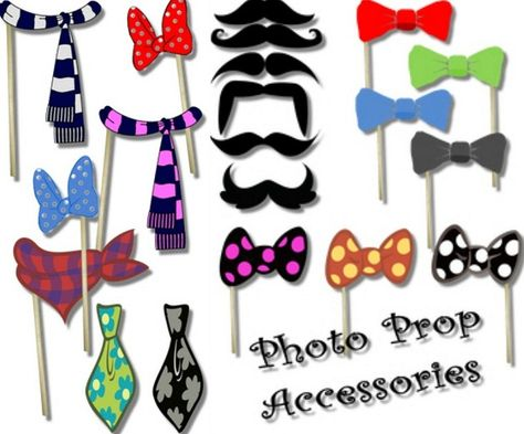 Free printable party photo booth accessories
