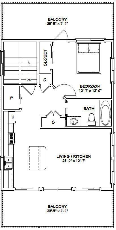 Details about Two Car Garage Apartment Plans DIY 2 Bedroom ...