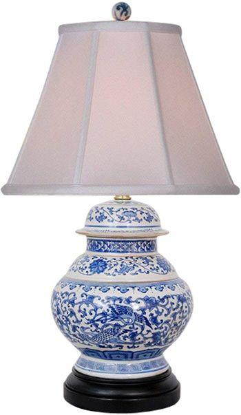 Asian Style Furnishing Lpjbw0812p 21 5 Blue And White Phoenix Ginger Jar Table Lamp Blue And White Table Lamps Deep Dis Lamp Jar Table Lamp Owl Table Lamp