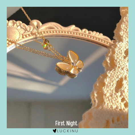First Night Solid Butterfly Necklace $18.99