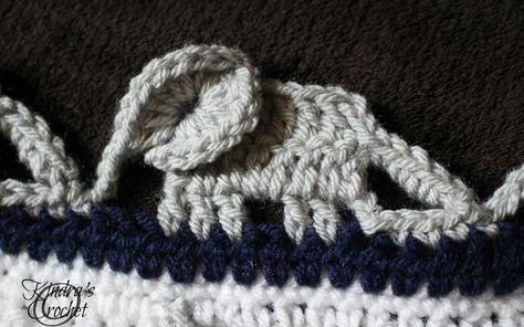Crochet Elephant Edging - Free Tutorial   Crochet elephant ...   296x474