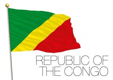 Bandera De La República Del Congo Ilustración De Stock En 2020 Banderas Banderas Del Mundo Bandera