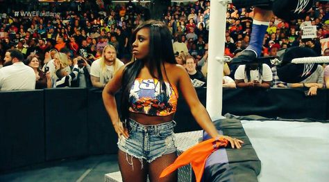 Naomi always has her husband (Jimmy USO) & (Brother-in-laws) Jey USO back
