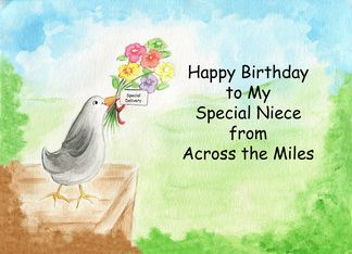 108 best birthday cards images on pinterest birthdays happy happy birthday niece across the miles humorous bird card personalize any greeting card for no additional cost m4hsunfo Gallery