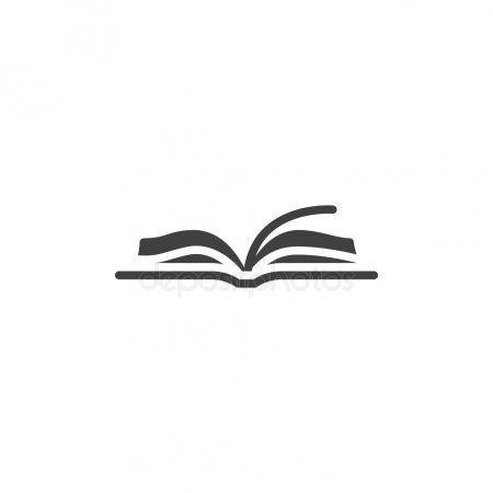 Open Book Vector Icon Stock Vector Sponsored Vector Book Open Vector Ad In 2021 Library Logo Book Icons Book Logo