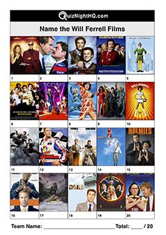 Name These Will Ferrell Films Will Ferrell Trivia Events Film