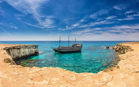 Pirate Ship Ayia Napa Cyprus A Pirate Ship In A Horseshoe Cove In The Sea Caves Affiliate Napa Cyprus Ayia Pirate Ship Ad Ayia Napa Napa Photo
