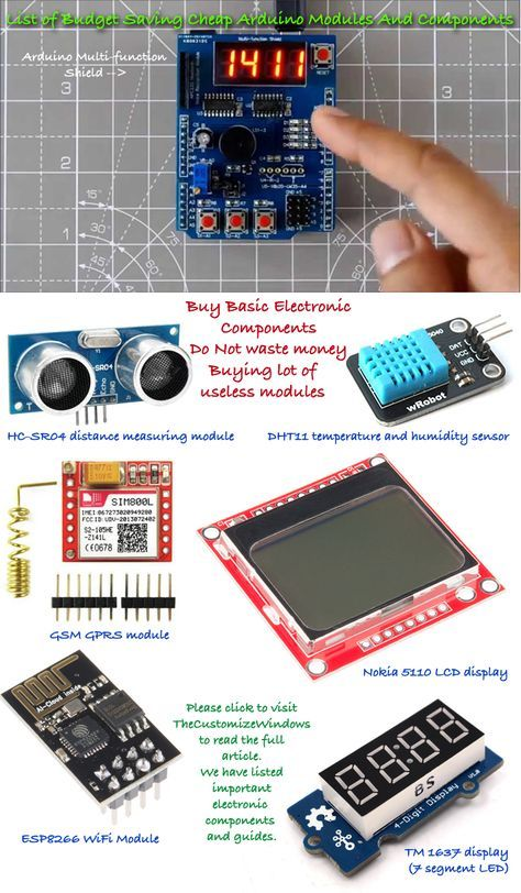 List of Budget Saving Cheap Arduino Modules And Components
