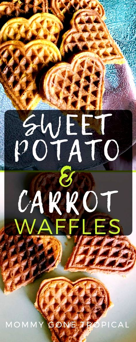 Sweet Potato Carrot Waffles recipe #sweetpotatoes #carrot #waffles #wafflerecipes #fallrecipes