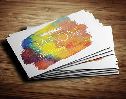9 best mural business card images on Pinterest Artist business