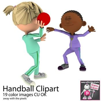 Team Handball Sport Clip Art For Pe European Handball Clip Art For Teachers Teacherspayteachers Tpt Clipart Team Handball Sports Clips Clip Art
