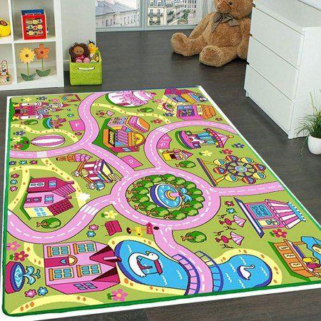 Mybecca Kids Rug Colourful Fun Land 3