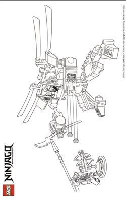 42 Coloring Pages Of Lego Ninjago Maleboger Tegning