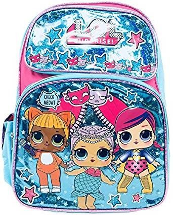 "1 LOL Surprise Doll 16"" Large Sparkle School Backpack Notebooks Pencil Case"