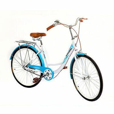 Womens Commuter Bike Single Speed 24 Inch Beach Cruiser Bike Rear Racks Blue Usa In 2020 Womens Commuter Bike Cruiser Bike Commuter Bike