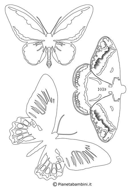 Sagome Di Farfalle Da Colorare E Ritagliare Per Bambini Per Farfalle