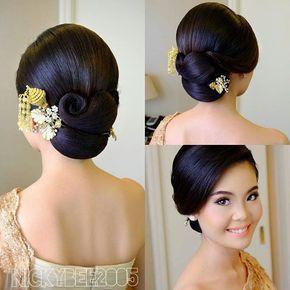 50 Model Sanggul Pengantin Modern Simple Untuk Wisuda Pengantin Dan Kebaya Hari Pernikahan In 2021 Bridal Hairdo Long Hair Styles Wedding Hairstyles For Long Hair