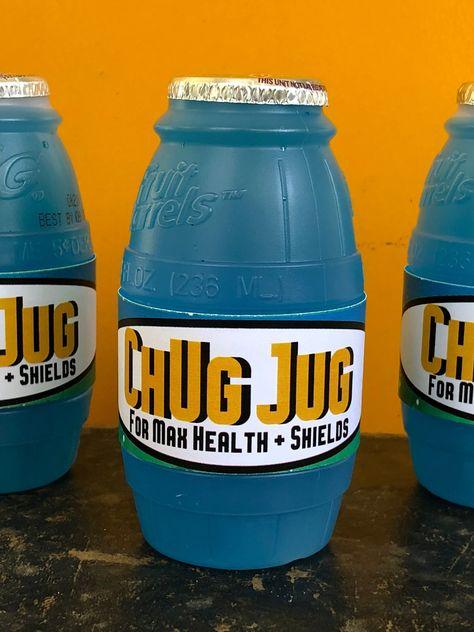 image about Chug Jug Printable identified as Printable Fortnite Med Package wrap for Rice Krispy snacks or