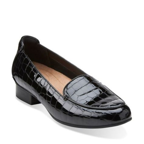 62b4b2274dc Keesha Luca Black Croc Patent Leather womens-wide-fit-flats