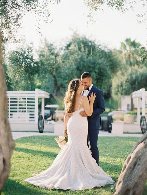Old World Inspired Destination Wedding at Danilia Village in Greece #weddingdress #destinationwedding #greecewedding