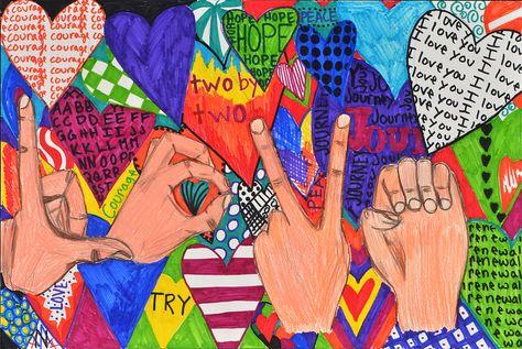 ASL drawings to practice hands