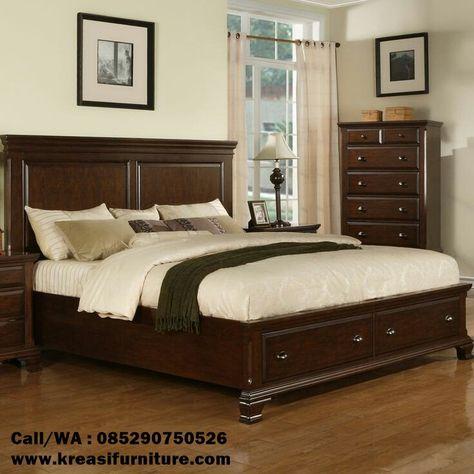 tempat tidur minimalis kayu solid   set kamar tidur, mebel