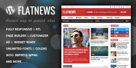 FlatNews v3.9 – Responsive Magazine WordPress Theme