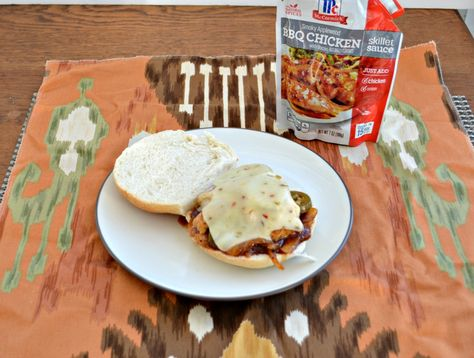 Spicy BBQ Chicken Sandwich made easy with McCormick Skillet Sauces  #WeekdaySupper  #McSkilletSauce