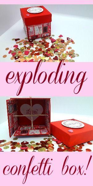 Exploding Confetti Box Exploding Gift Box Exploding Box Card Diy Exploding Box