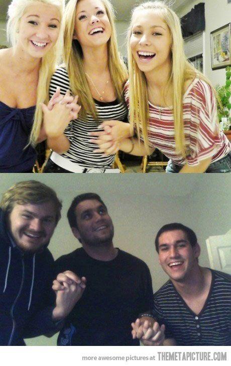 Guys should always retake girls' pictures…